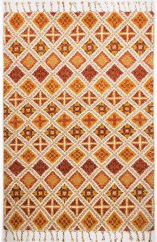 Bild: Fransenteppich Marmoucha (Terracotta; 140 x 200 cm)