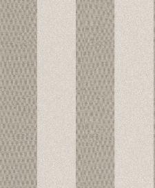Bild: Streifentapete Stickstruktur 4525 (Beige/Grau)
