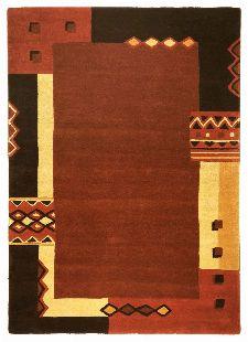Bild: Schurwollteppich Florida (Terrakotta; 150 cm rund)