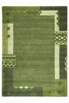 Bild: Schurwollteppich Florida (Grün; 150 cm rund)