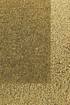 Bild: Frisee Teppich mit Schlingenbordüre Twinset Skyline (Khaki; 140 x 200 cm)