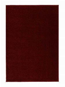 Bild: Kurzflor Teppich Samoa - Uni Design - Rot