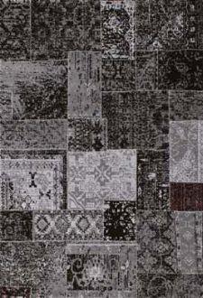 Bild: Patchwork Teppich - - Schwarz