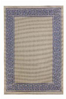 Bild: Outdoor Teppich Griechische Bordüre - Blau