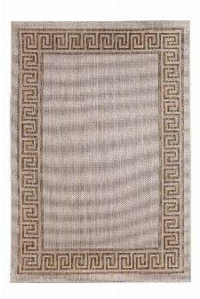 Bild: Outdoor Teppich Griechische Bordüre - Braun