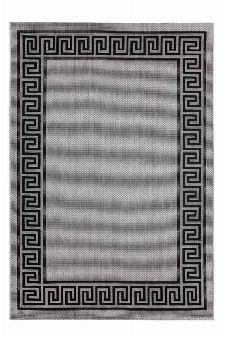 Bild: Outdoor Teppich Griechische Bordüre - Grau