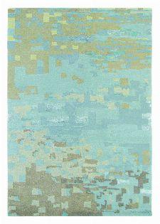 Bild: Designer Schurwollteppich Yara Mist 134218 - Hellblau