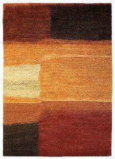 Bild: Designer Schurwollteppich Yara Aquarel 193303 - Braun