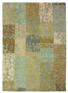 Bild: Designer Vintageteppich Yara Patchwork 194001 - Creme
