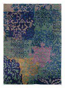 Bild: Vintage Schurwollteppich Yara Venice 196208 - Blau