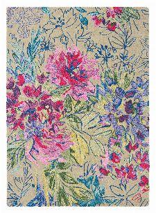 Bild: Designer Schurwollteppich Ines Jardin 19904 - Bunt