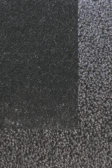 Bild: Frisee Teppich mit Schlingenbordüre Twinset Skyline - Anthrazit