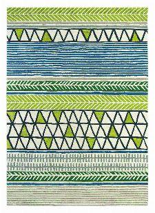 Bild: Wunschmaß Teppich Raita - Kiwi