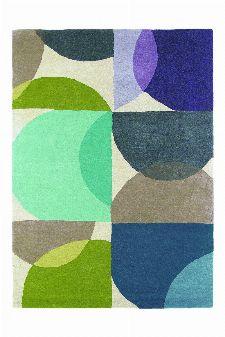 Bild: Wunschmaß Teppich Kaleido - Blau