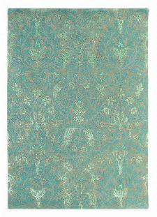 Bild: Teppich Autumn flowers - Blau