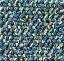 Bild: Teppich Marble - Blau