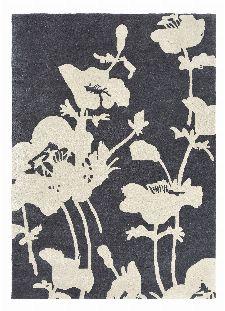 Bild: Florence Broadhurst Designerteppich Floral 300 - Grau