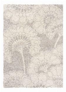 Bild: Florence Broadhurst Designerteppich Japanese Floral - Grau
