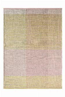 Bild: Ted Baker Schurwoll Teppich Check - Beige/Rosa/Grün