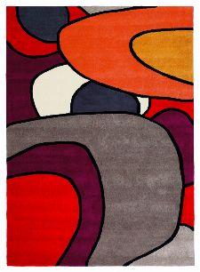 Bild: Designer Schurwollteppich Estella Comic 875003 - Rot
