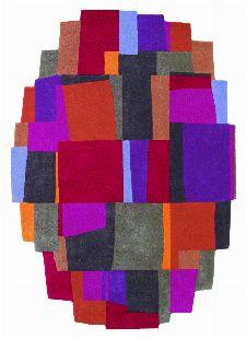 Bild: Designerteppich Estella Elements 877000 - Rot