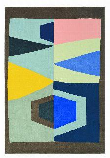 Bild: Ethno-Design Teppich Estella Totem 878508 - Braun