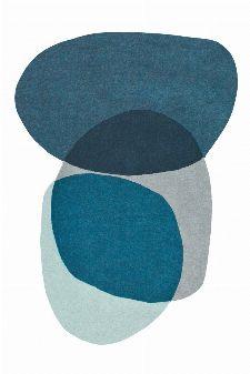 Bild: Designer Schurwollteppich Estella Swatch - Blau