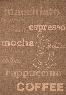 Bild: Küchenteppich Uppsala - Coffee - - Kaffee