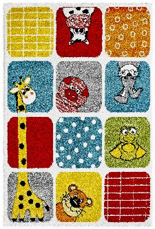 Bild: Kinderteppich - Funny Animals - Dots - Multi