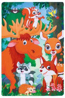 Bild: Waldtiere Kinderteppich - Forest