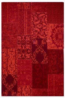 Bild: Jaquard Flachgewebe Teppich - Patchwork - Rot