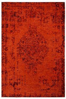 Bild: Jaquard Flachgewebe Teppich - Vintage Ornament - Rot