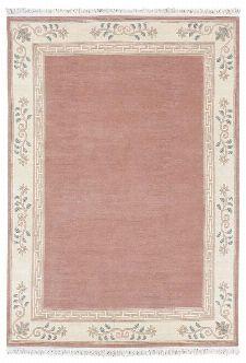 Bild: Original Nepal Bordürenteppich Classica - Altrose