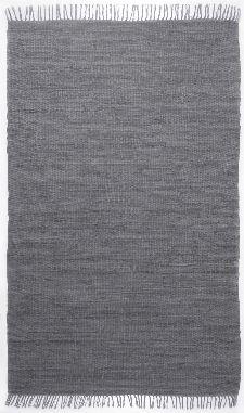 Bild: Teppich Läufer Happy Cotton Uni - Anthrazit