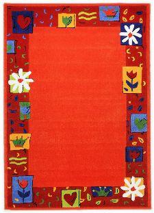 Bild: Kinderteppich Blumen Kindergarten MH-3657 - Orange