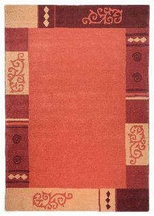 Bild: Schurwollteppich Ambadi Bordüre - Terracotta
