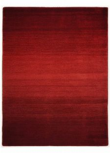 Bild: Schurwollteppich Wool Star Ombre - Rot