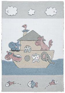 Bild: Kinderteppich Kindergarten MH-3265 - Weiß/Blau