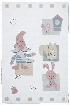 Bild: Kinderteppich Zwerg Kindergarten MH-3979 - Weiß