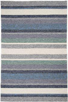 Bild: Gino Falcone Teppich Rosetta - Stripes - Blau