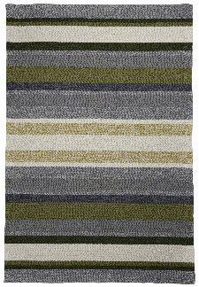 Bild: Gino Falcone Teppich Rosetta - Stripes - Grün