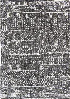 Bild: Louis de poortere Baumwollteppich Agadir (Amazigh Grey; 230 x 330 cm)