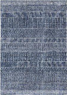 Bild: Louis de poortere Baumwollteppich Agadir (Scarab Blue; 230 x 330 cm)