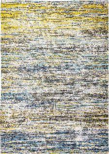 Bild: Louis de poortere Baumwollteppich Sari (Blue Yellow Mix; 170 x 240 cm)