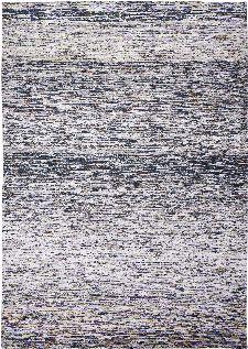 Bild: Louis de poortere Streifenteppich Tunupa (Blue and Salt; 140 x 200 cm)