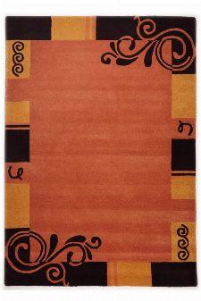 Bild: Bordürenteppich Hawai FE6188 (Terrakotta; 160 x 230 cm)