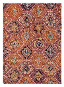 Bild: Brink&Campman Schurwollteppich Yara Nomad 33403 (Orange; 200 x 300 cm)