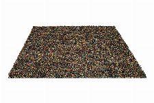 Bild: Schurwollteppich Dots (Bunt/Beige; 140 x 200 cm)