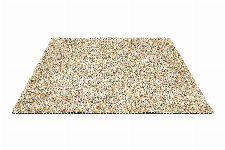 Bild: Schurwollteppich Dots (Bunt/Creme; 140 x 200 cm)