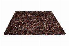 Bild: Schurwollteppich Dots (Bunt/Rot; 140 x 200 cm)